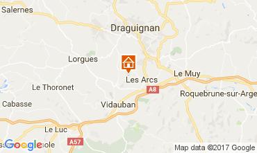 Kaart Les Arcs-sur-Argens Vakantiehuis 108268