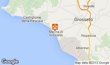 Kaart Marina di Grosseto Appartement 82312