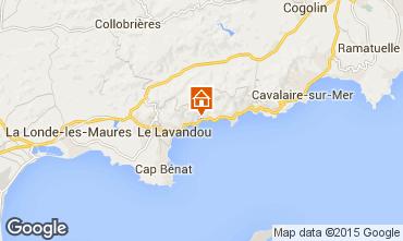 Kaart Le Lavandou Studio 8573