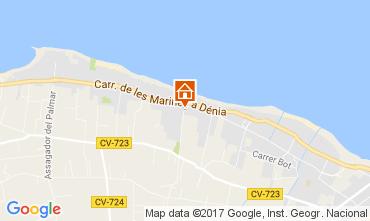 Kaart Dénia Appartement 111027