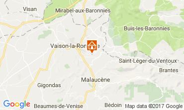 Kaart Vaison la Romaine Huis 110810