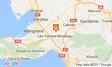 Kaart Aix en Provence Appartement 107983