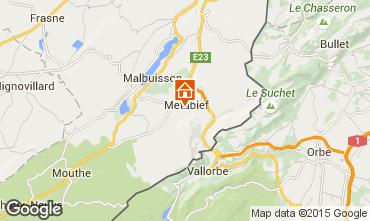 Kaart Métabief Vakantiehuis 74220
