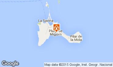 Kaart Formentera Appartement 76917