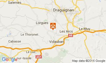 Kaart Lorgues Vakantiehuis 105361