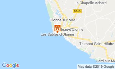 Kaart Les  Sables d'Olonne Appartement 117838
