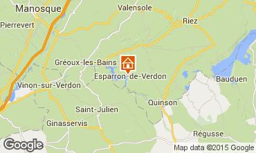 Kaart Esparron-de-Verdon Huis 87209