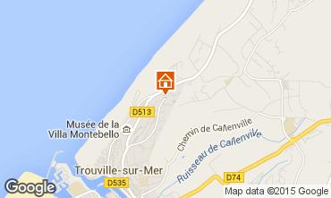 Kaart Trouville sur Mer Studio 10805