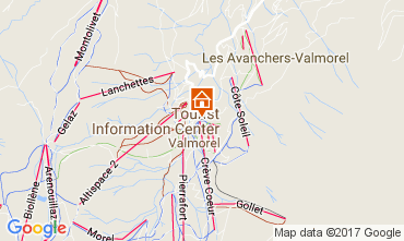 Kaart Valmorel Appartement 111732