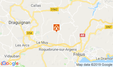 Kaart Fréjus Villa 117805