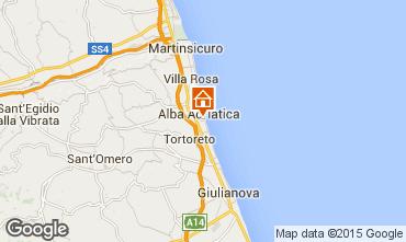 Kaart Alba Adriatica Appartement 88815