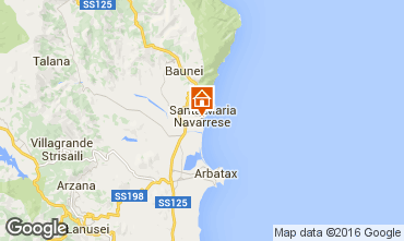 Kaart Santa Maria Navarrese Appartement 40493