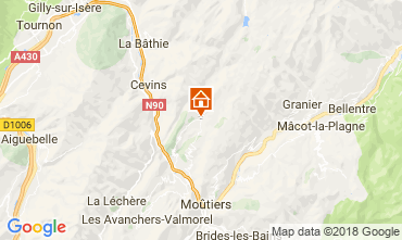 Kaart La Léchère Appartement 114431
