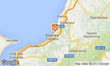 Kaart Bagnara Calabra Appartement 53653