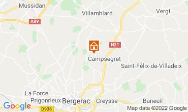 Kaart Bergerac Vakantiehuis 118030