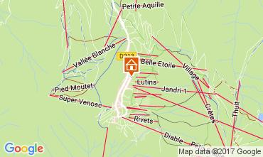 Kaart Les 2 Alpes Appartement 111845