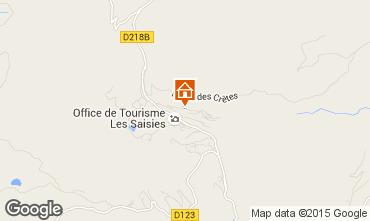 Kaart Les Saisies Appartement 26913