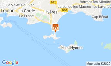 Kaart Hyères Studio 5810