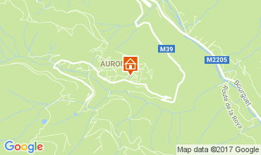 Kaart Auron - Saint Etienne de Tinée Studio 112686