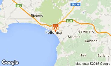 Kaart Follonica Appartement 75628