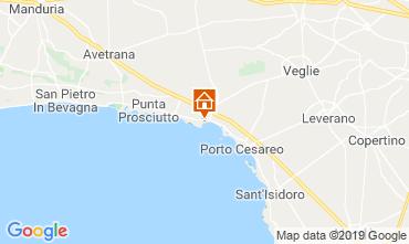 Kaart Porto Cesareo Appartement 71293