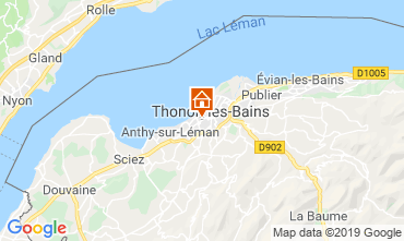 Kaart Thonon Les Bains Appartement 118446