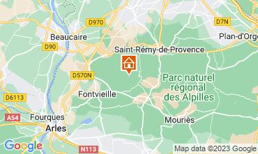 Kaart Les Baux de Provence Vakantiehuis 13098