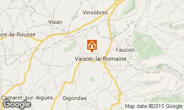 Kaart Vaison la Romaine Vakantiehuis 81749