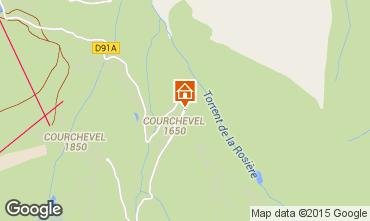Kaart Courchevel Appartement 1096