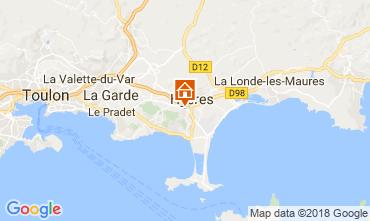 Kaart Hyères Villa 113023