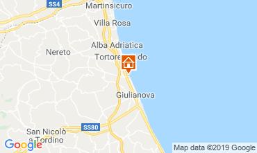 Kaart Giulianova Appartement 71115