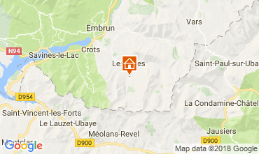 Kaart Les Orres Chalet 65856