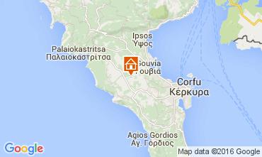 Kaart Corfu Villa 102719