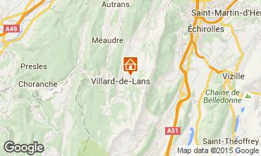 Kaart Villard de Lans - Corrençon en Vercors Chalet 3640