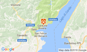 Kaart Gardone Riviera Appartement 114062