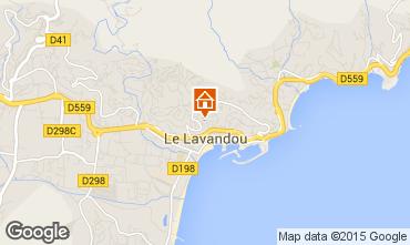 Kaart Le Lavandou Villa 89455