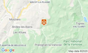 Kaart Champagny en Vanoise Appartement 102107