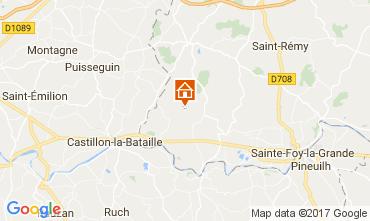 Kaart Bergerac Vakantiehuis 111984