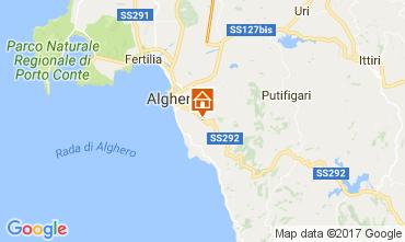 Kaart Alghero Villa 65699
