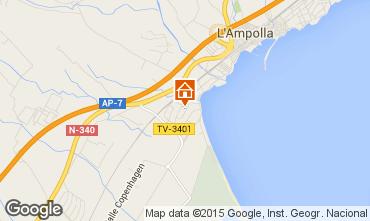 Kaart L'Ampolla Villa 63018