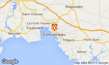 Kaart Concarneau Appartement 54537