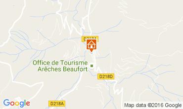 Kaart Areches Beaufort Chalet 107220