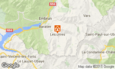 Kaart Les Orres Appartement 26650