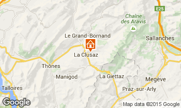 Kaart La Clusaz Appartement 80429