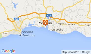 Kaart Praia da Rocha Appartement 65069