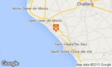 Kaart Saint Jean de Monts Stacaravan 60835