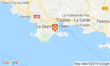 Kaart La Seyne sur Mer Vakantiehuis 117718