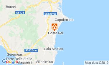 Kaart Costa Rei Appartement 82236