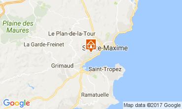 Kaart Saint Tropez Appartement 110369