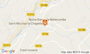 Kaart Notre Dame de Bellecombe Appartement 2023